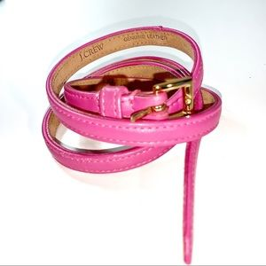 J.Crew pink leather belt NWOT Size small
